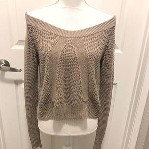 Beautiful Bar lll Knit Wide Shoulder Sweater